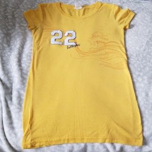 Short sleeve Hollister yellow slim fit tee